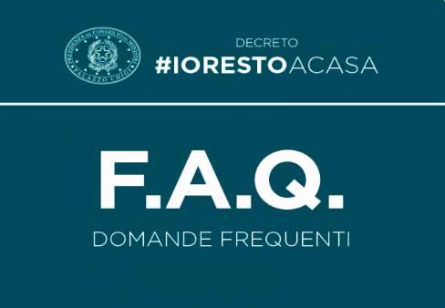 Coronavirus - #IoRestoaCasa, domande frequenti sulle misure adottate dal Governo