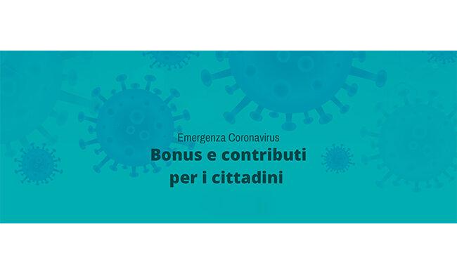 Emergenza Covid 19, tutte le info su bonus e contributi per i cittadini
